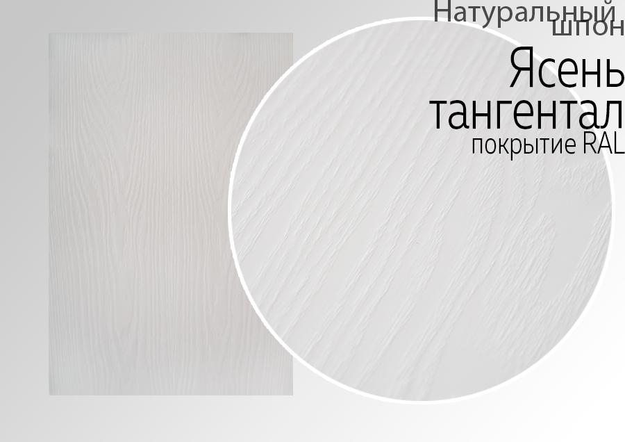 Мебельный фасад покрытый натуральным шпоном Ясень тангентал