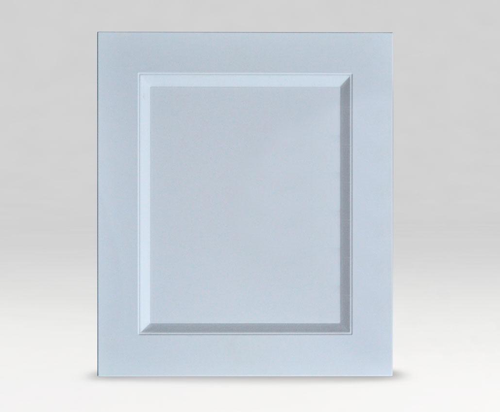 Меблевий фасад Екран-Доміно без полос+ДВП, ПВХ Soft-touch білий, периметр R3