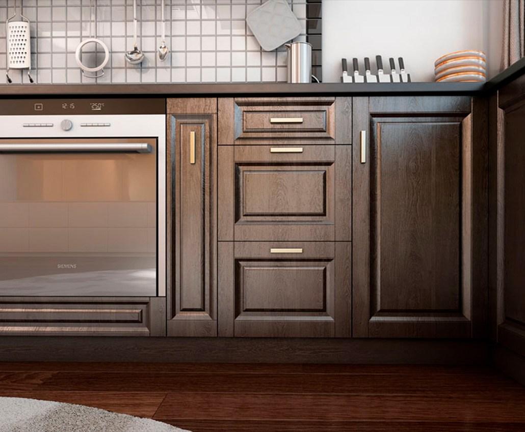 Кухня с фасадами МДФ серии Экстра от Полифасад - Экран-Домино