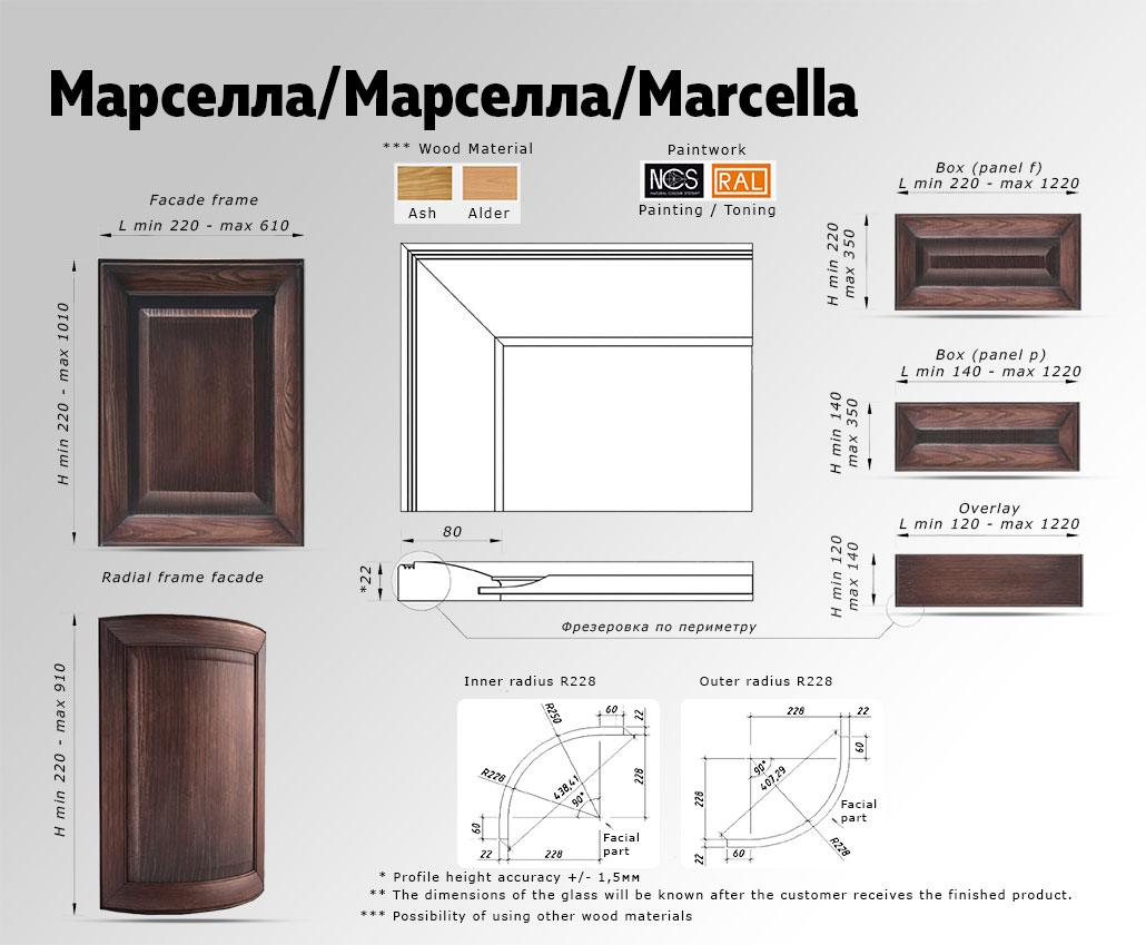Техническое описание фасада с массива дерева Марселла