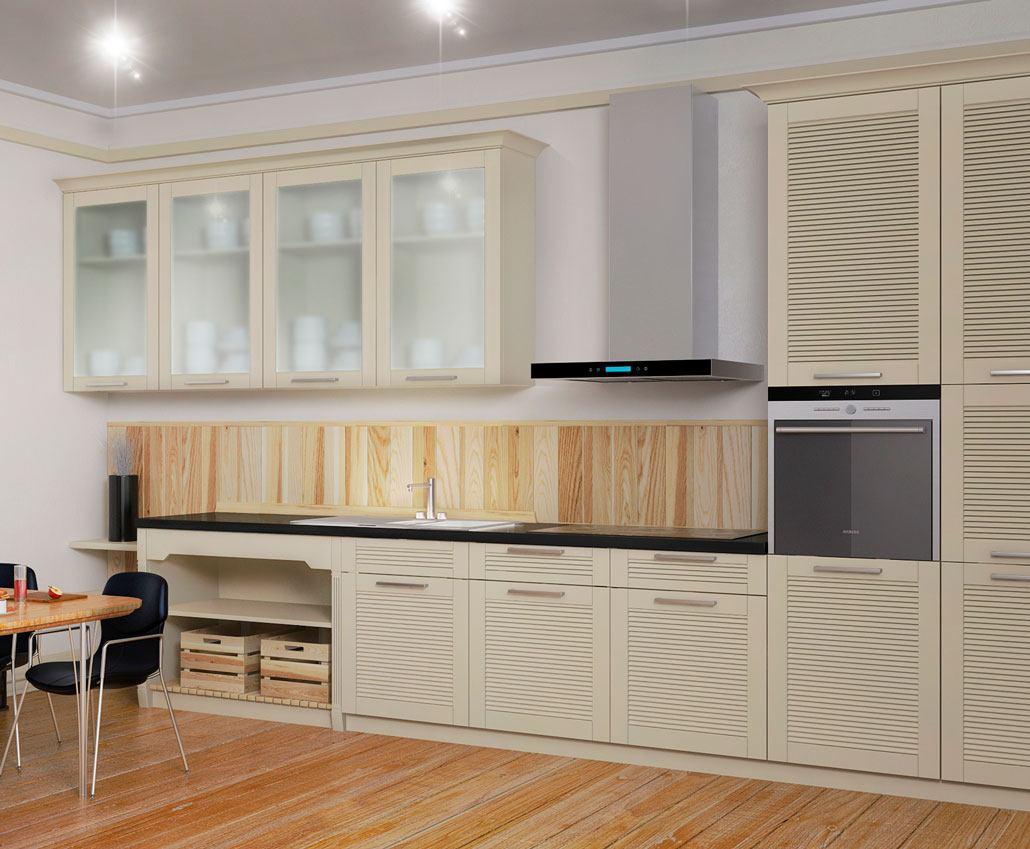 Кухня с фасадами МДФ серии Престиж от Полифасад - Жалюзи новые