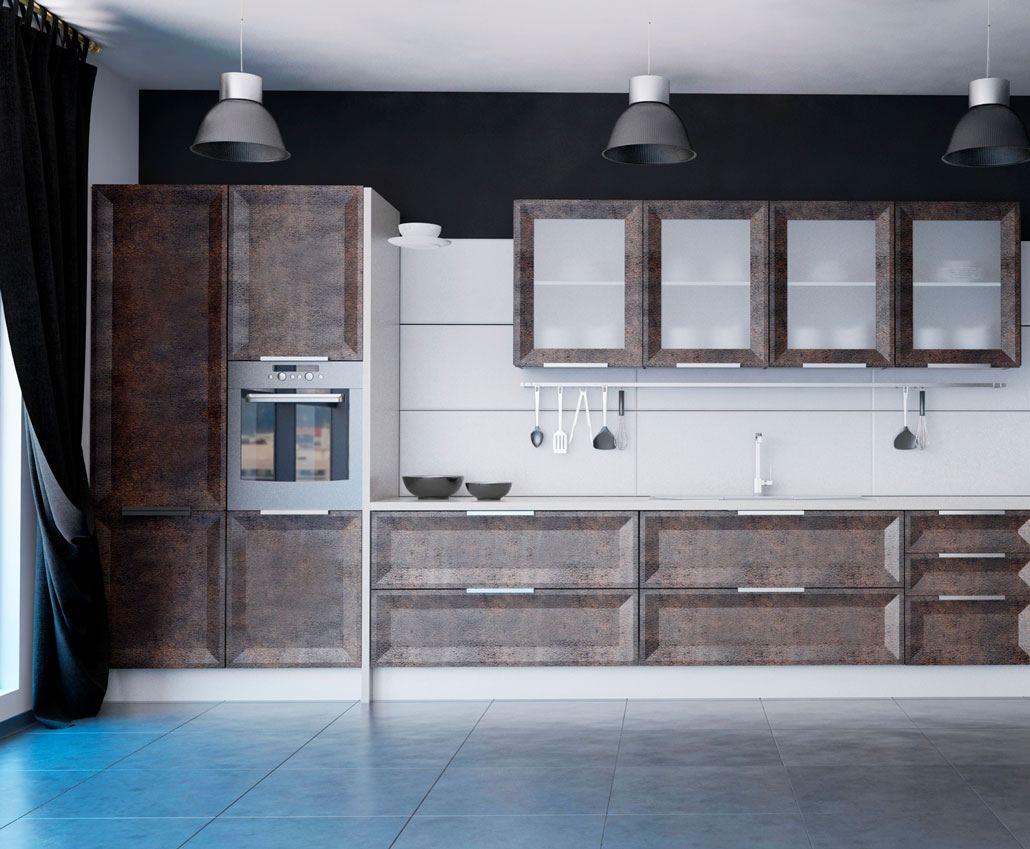 Кухня с фасадами МДФ серии Экстра от Полифасад - Экран-Мадрид