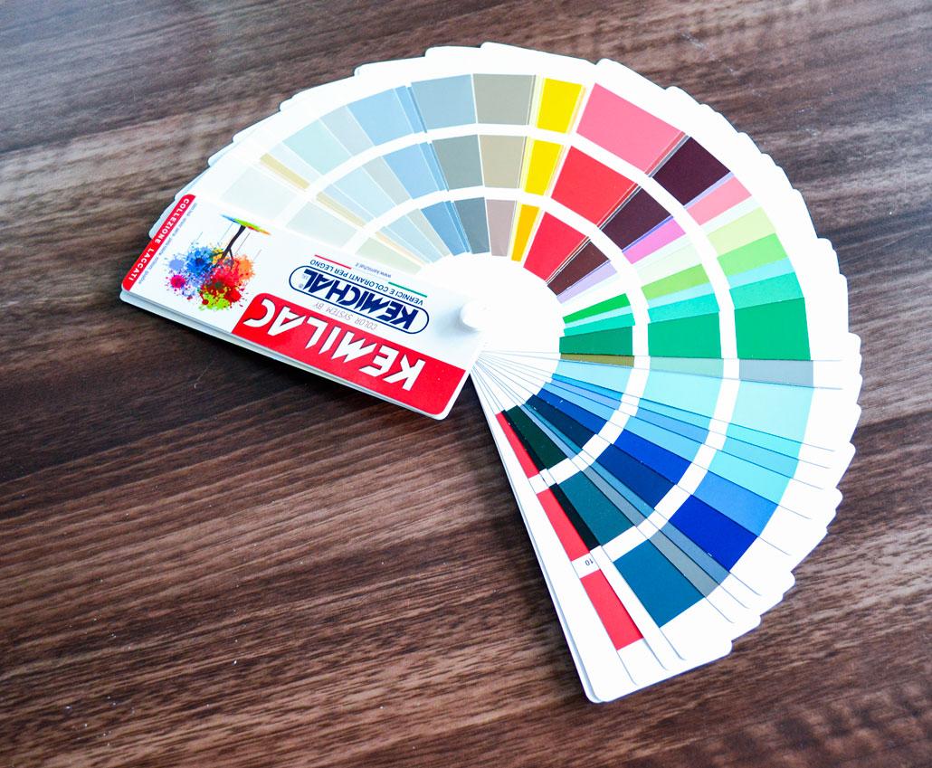 Каталог кольорів для фарбування МДФ фасадів Kemichal