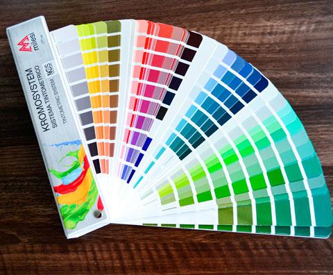 Каталог кольорів для фарбування МДФ фасадів NCS