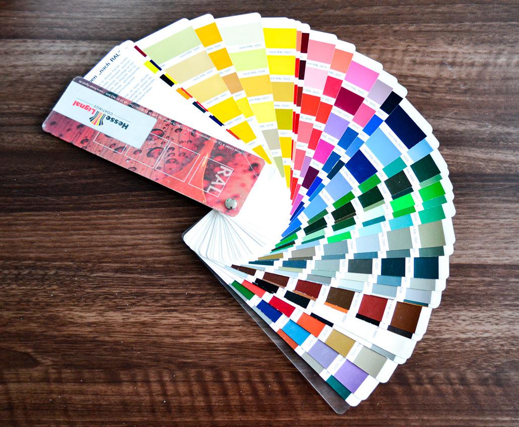 Каталог кольорів для фарбування МДФ фасадів RAL
