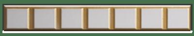 Декоративный погонаж №5 для кухонь с фасадами Полифасад