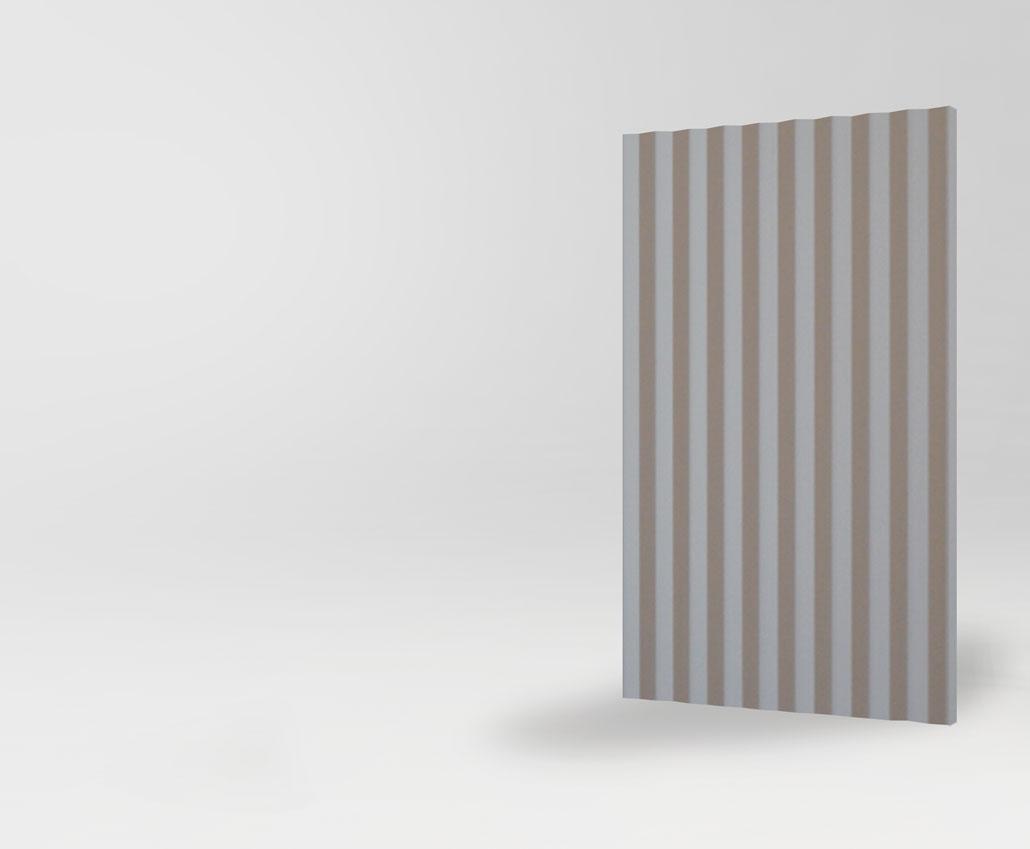 Объемный 3D фасад Бергамо для кухни и мебели