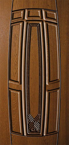 Дверная накладка МДФ с декором на металлические двери AD1