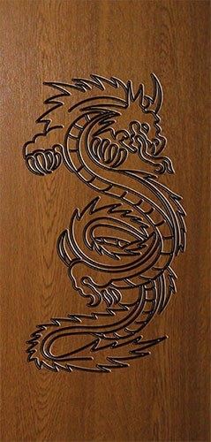 Дверная накладка МДФ с художественной гравировкой на металлические двери AE6