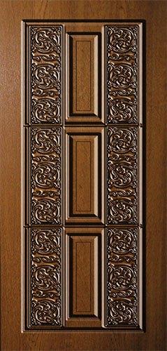 Дверная накладка МДФ с художественной фрезеровкой на металлические двери АМ1