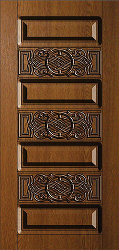 Дверная накладка МДФ с художественной фрезеровкой на металлические двери AM10