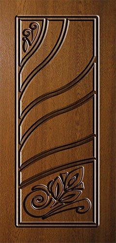 Дверная накладка МДФ с художественной фрезеровкой на металлические двери AM12