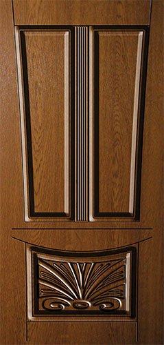 Дверная накладка МДФ с художественной фрезеровкой на металлические двери AM13