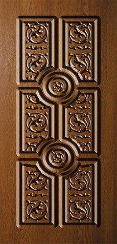 Дверная накладка МДФ с художественной фрезеровкой на металлические двери AM16