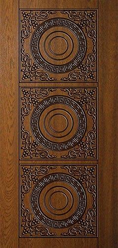 Дверная накладка МДФ с художественной фрезеровкой на металлические двери AM19