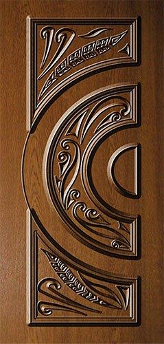 Дверная накладка МДФ с художественной фрезеровкой на металлические двери AM2