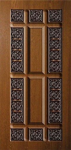 Дверная накладка МДФ с художественной фрезеровкой на металлические двери AM3