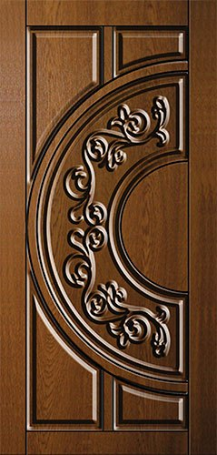 Дверная накладка МДФ с художественной фрезеровкой на металлические двери AM6