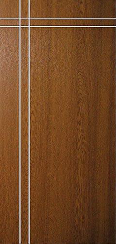 Дверная накладка МДФ с металлической прожилкой на металлические двери MV3