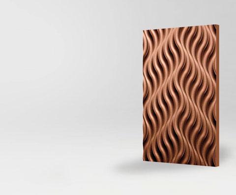 Объемный 3D фасад Дюна для кухни и мебели