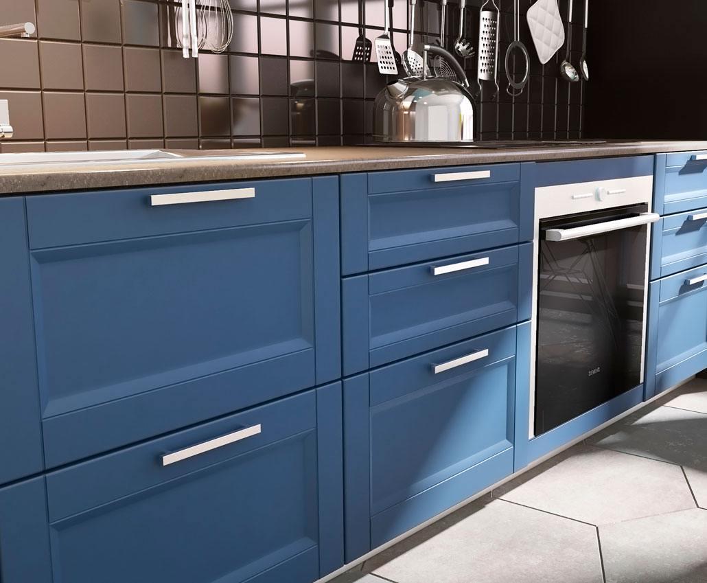 Фрезерованый крашеный мебельный фасад для кухни