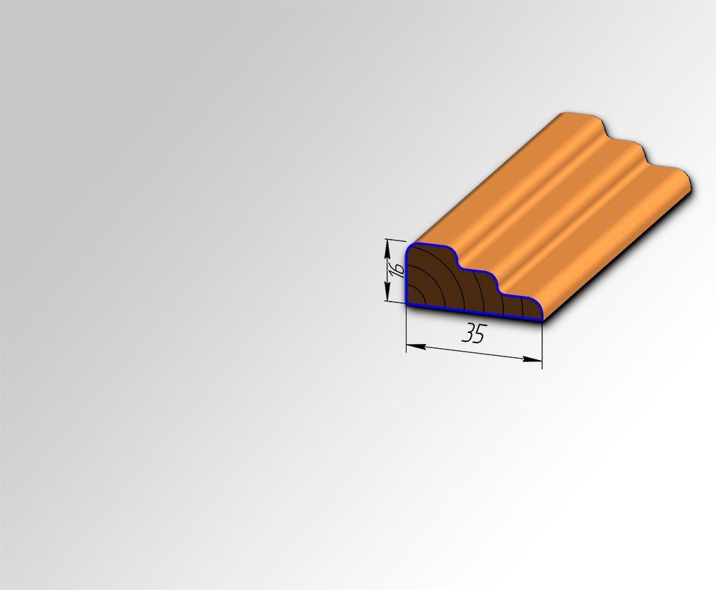 Мебельный штапик №6 для кухонь с фасадами Полифасад