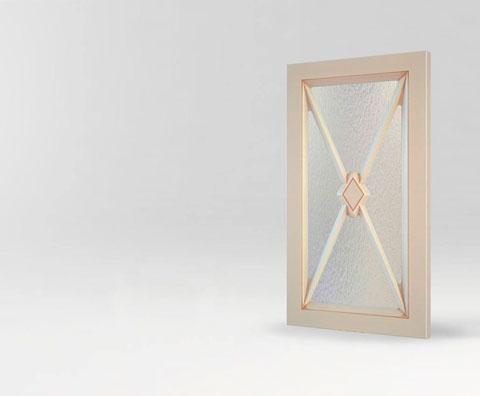 Фрезерованная мебельная витрина Камелия для кухни и мебели от Полифасад