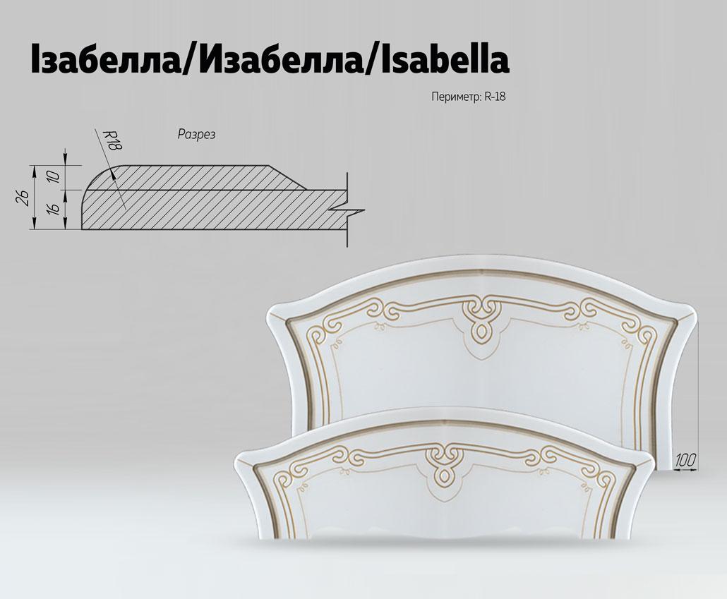 Быльца для кровати Изабелла