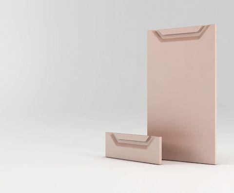 Мебельный фасад МДФ с врезной ручкой V для кухни и мебели