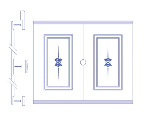Чертеж стеновой панели из МФД вариант 1