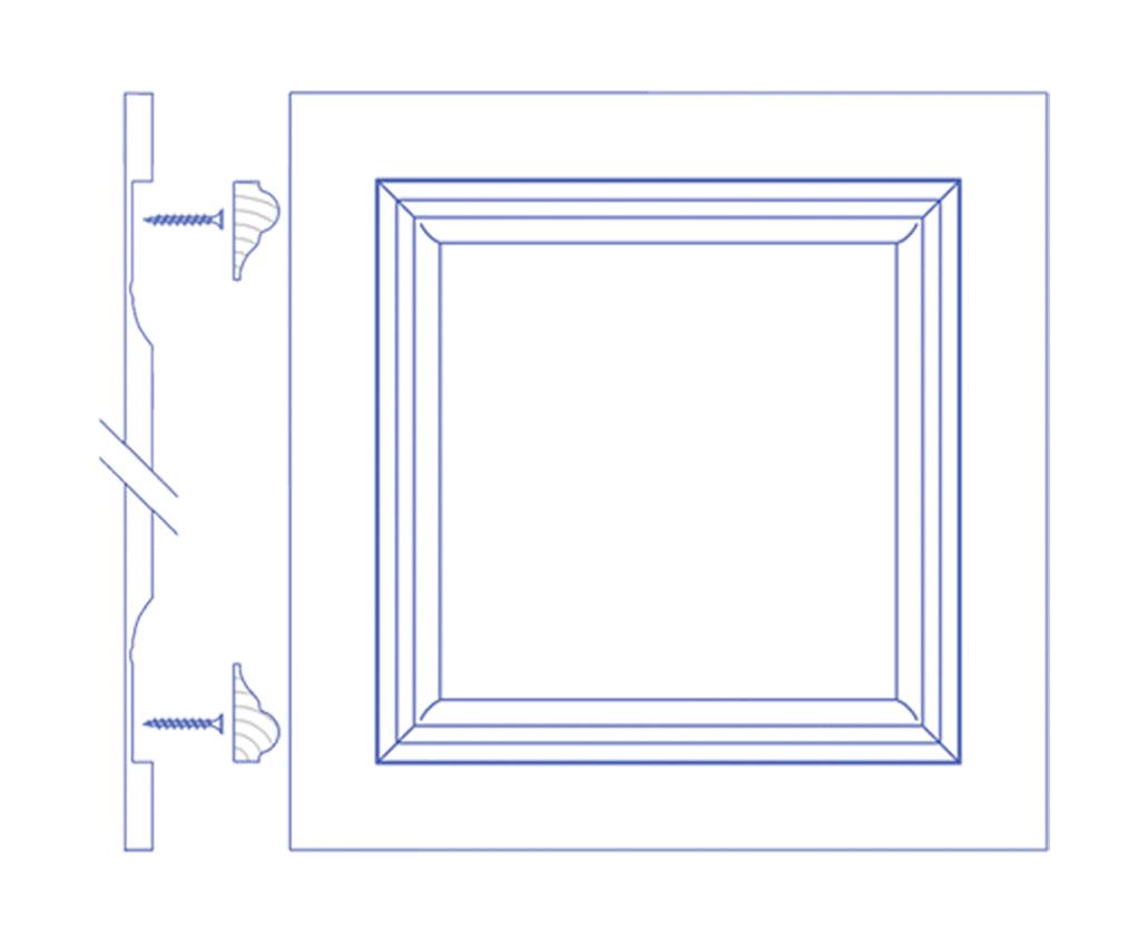 Чертеж стеновай панели из МДФ вариант 2