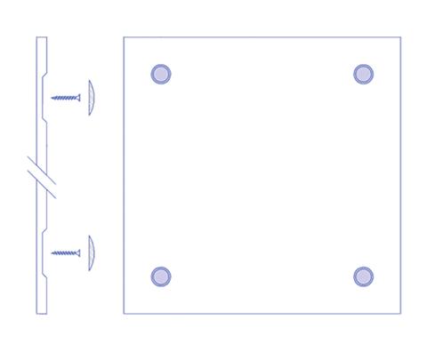 Чертеж стеновай панели из МДФ вариант 3