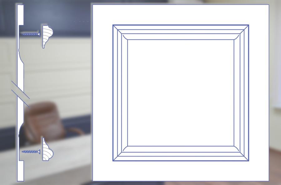 Стеновая панель с МДФ вариант 2