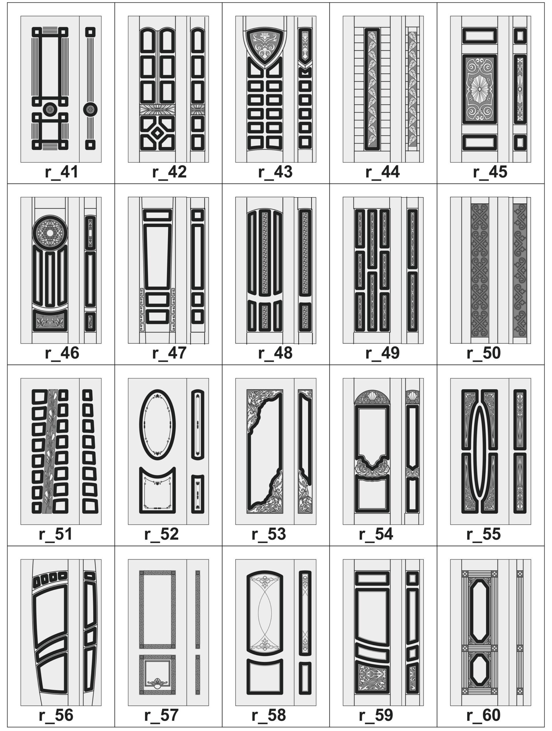 Дверные накладки МДФ на металлические двери R_41-60