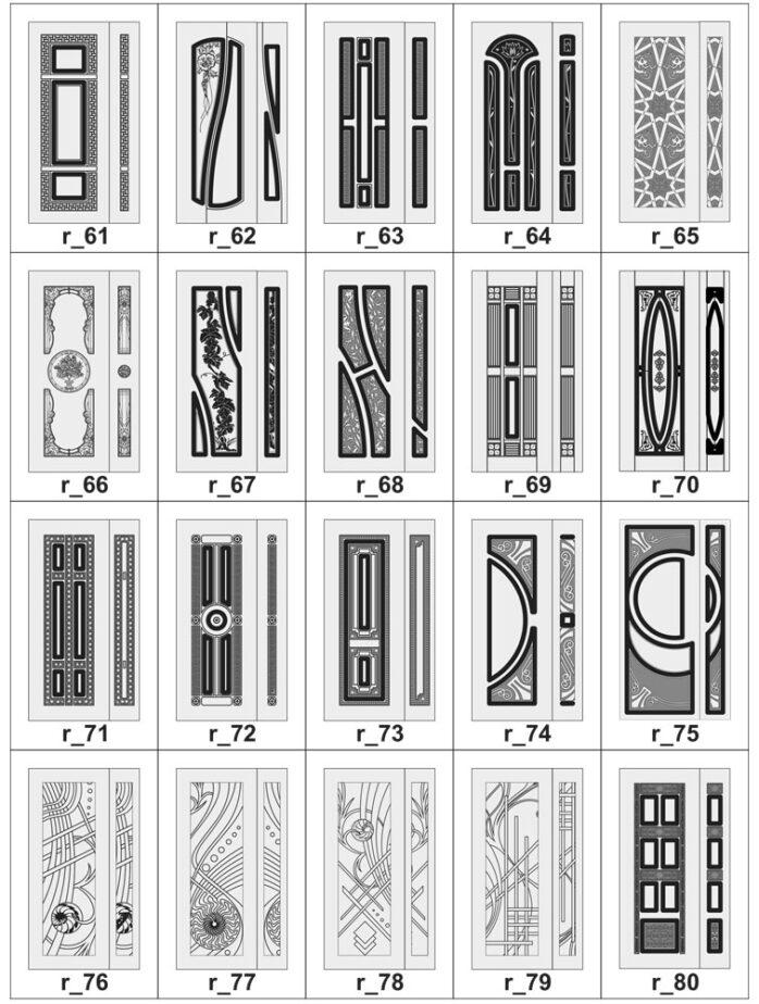 Дверные накладки МДФ на металлические двери R_61-80