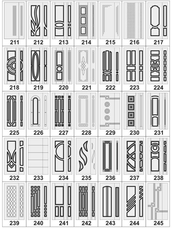 Дверные накладки МДФ на металлические двери 211-245