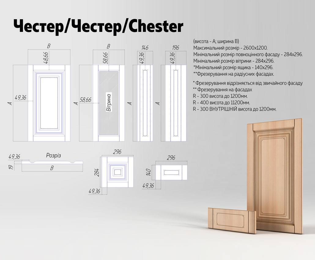 Техническое описание фасада МДФ серии Экстра от Полифасад - Честер