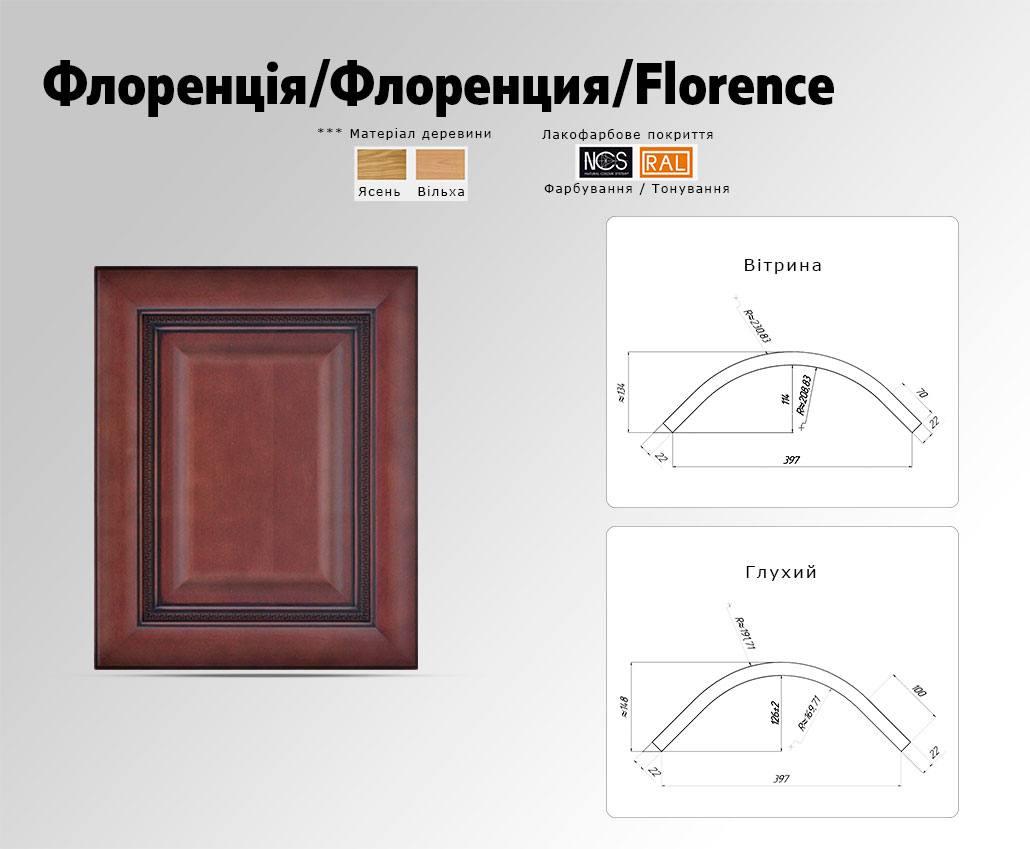 Техническое описание фасада с массива дерева Флоренция